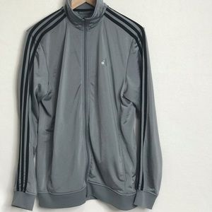 ADIDAS MENS FULL ZIP GREY MEDIUM TRACK JACKET